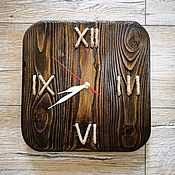 Часы классические ручной работы. Ярмарка Мастеров - ручная работа Часы из дерева. Сосна. Handmade.