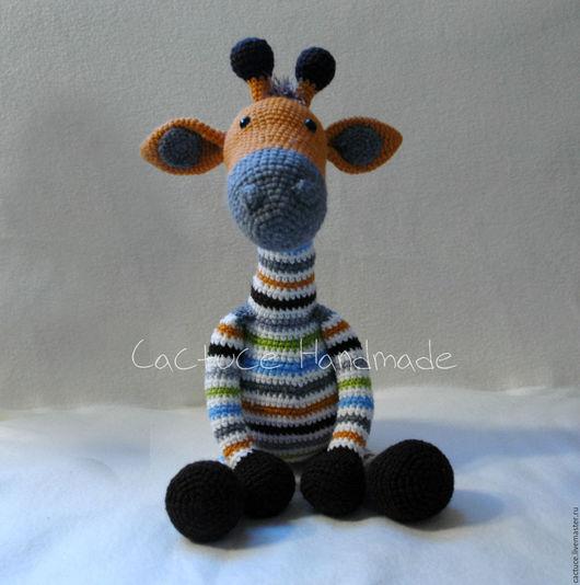 Игрушки животные, ручной работы. Ярмарка Мастеров - ручная работа. Купить Игрушка жираф большая. Handmade. Комбинированный, вязаная игрушка