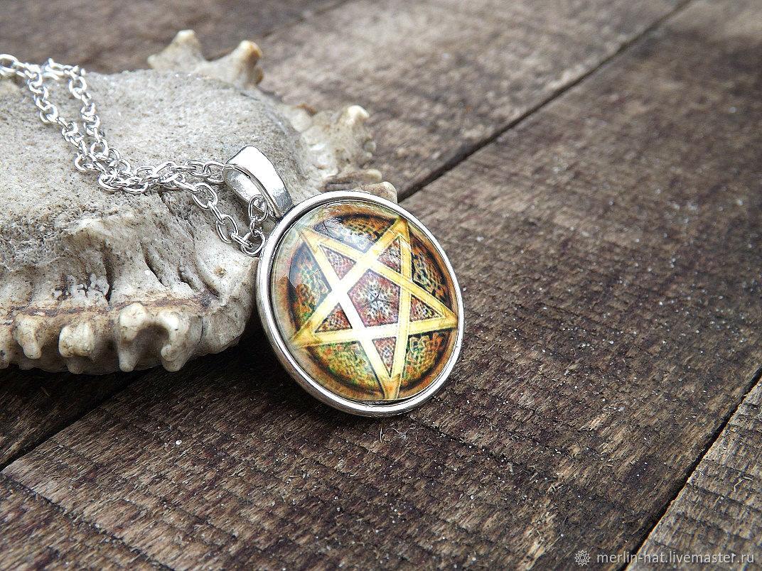 Necklace 'Pentagram', Pendants, Tambov,  Фото №1