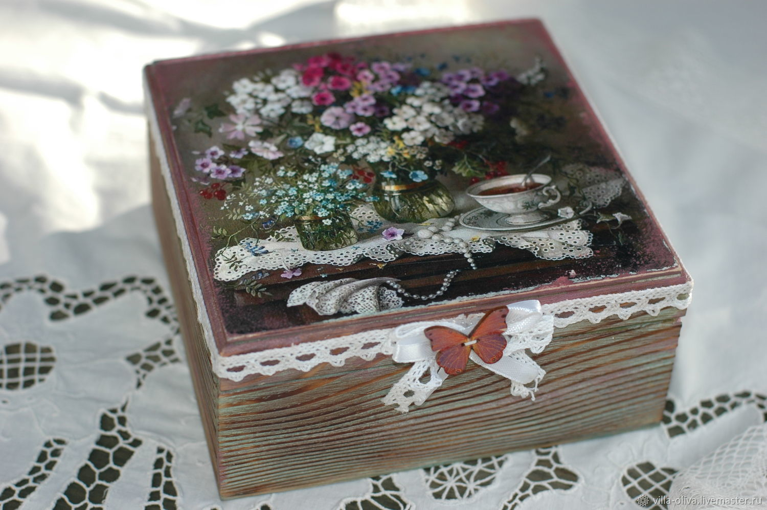 Box Summer bouquet of flowers, Box, Moscow,  Фото №1