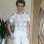 """Одежда ручной работы. Ярмарка Мастеров - ручная работа Кофточка летняя """"Белые цветы"""". Handmade."""