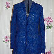 """Одежда ручной работы. Ярмарка Мастеров - ручная работа Кардиган """"Индиго"""". Handmade."""