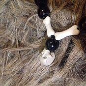 Четки ручной работы. Ярмарка Мастеров - ручная работа Четки из мориона с резным черепом из кости. Handmade.