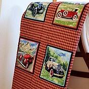 """Для дома и интерьера ручной работы. Ярмарка Мастеров - ручная работа Плед-покрывало """"Ретро-авто"""". Handmade."""