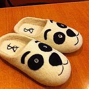 """Обувь ручной работы. Ярмарка Мастеров - ручная работа тапочки """"Пандочки"""". Handmade."""