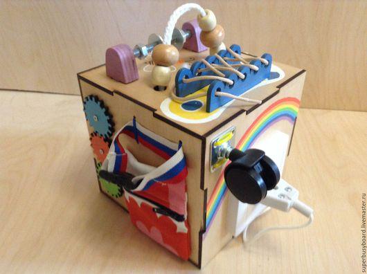 """Развивающие игрушки ручной работы. Ярмарка Мастеров - ручная работа. Купить Бизиборд """"Baby"""". Handmade. Бизиборды, Монтессори, развивающие игрушки"""