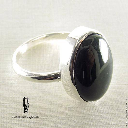 Кольца ручной работы. Ярмарка Мастеров - ручная работа. Купить Перстень с темно зеленой яшмой. Handmade. Серебряный, яшма натуральная