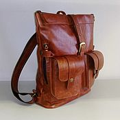 Сумки и аксессуары handmade. Livemaster - original item Backpack leather city 21. Handmade.