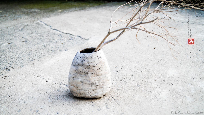 "Ваза ""белый коралл"" раку керамика, Вазы, Бахчисарай,  Фото №1"