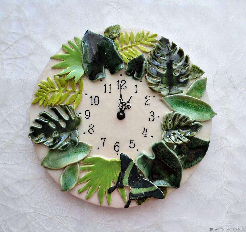 Часы керамика Тропики, Часы классические, Санкт-Петербург,  Фото №1