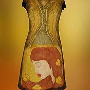 Одежда ручной работы. Ярмарка Мастеров - ручная работа Платье валяное Девушка Осень. Handmade.