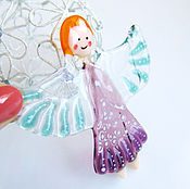 Для дома и интерьера handmade. Livemaster - original item Angel of glass. fusing. christmas angel.. Handmade.