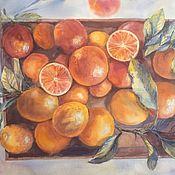 Картины и панно handmade. Livemaster - original item Pictures: Sunny oranges. Handmade.