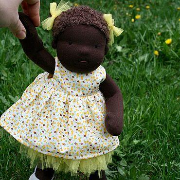 Куклы и игрушки ручной работы. Ярмарка Мастеров - ручная работа Вальдорфская кукла африканка. Handmade.