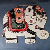 Картины и панно handmade. Livemaster - original item Handmade ceramic wall panel: Indian elephant.. Handmade.