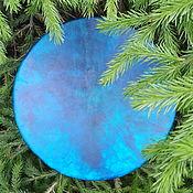 Музыкальные инструменты handmade. Livemaster - original item Heavenly tambourine. Tambourine shaman leather without a pattern. 45 cm. Handmade.