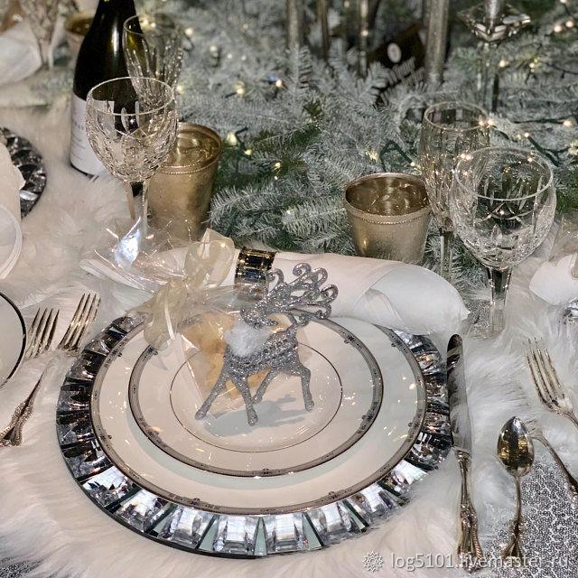 4 меховые салфетки для праздничного стола - Новогодний декор дома, Декоративные салфетки, Москва,  Фото №1