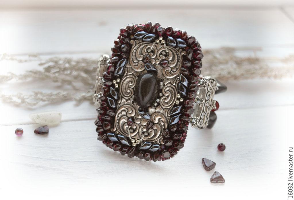 Bracelet with garnet beads, Bead bracelet, Lipetsk,  Фото №1