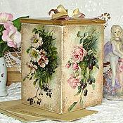 """Для дома и интерьера ручной работы. Ярмарка Мастеров - ручная работа короб для сладостей """"Цветущий сад"""". Handmade."""