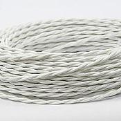 Дизайн ручной работы. Ярмарка Мастеров - ручная работа Провод витой для наружной проводки 2х0,75 белый. Handmade.