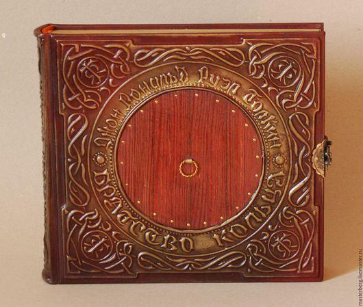 """Подарки для мужчин, ручной работы. Ярмарка Мастеров - ручная работа. Купить Книга ручной работы Р. Толкин """"Властелин колец"""". Кожаный переплет. Handmade."""