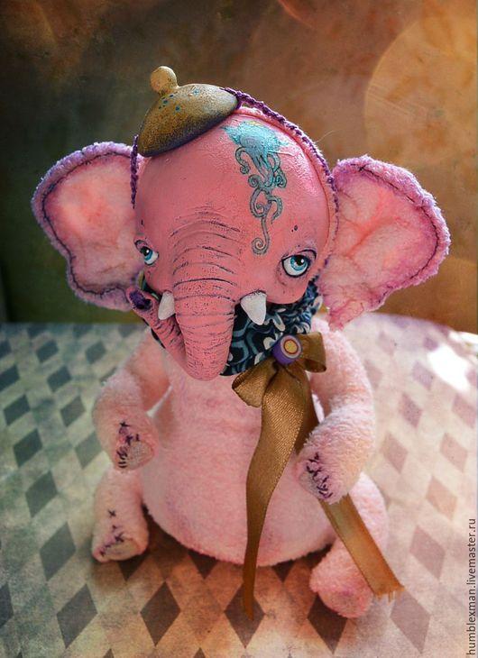 Куклы и игрушки ручной работы. Ярмарка Мастеров - ручная работа. Купить Чайный слоник. Handmade. Подвижная игрушка, коричневый