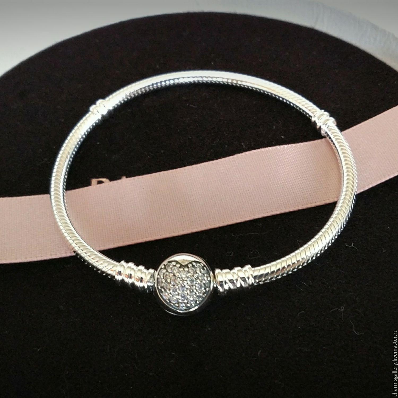 Купить Основа для браслета из Для украшений ручной работы. Основа для  браслета из серебра Сияющее сердце. b929700fc1e