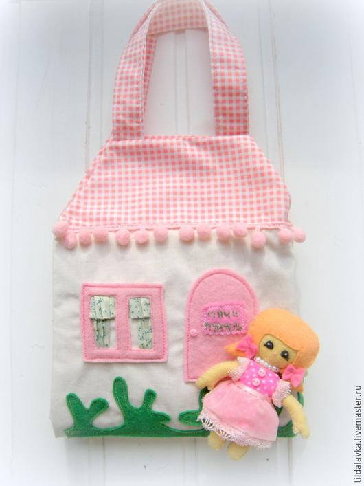 Кукольный дом ручной работы. Ярмарка Мастеров - ручная работа. Купить Текстильный домик малышки Мани Мурмель. Handmade. дом