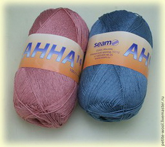 Вязание ручной работы. Ярмарка Мастеров - ручная работа. Купить Пряжа ANNA14 Seam Анна14 Сеам мерсеризованный хлопок. Handmade.