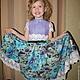 Одежда для девочек, ручной работы. Ярмарка Мастеров - ручная работа. Купить Платье валяное детское нарядное Весна. Handmade. Бирюзовый