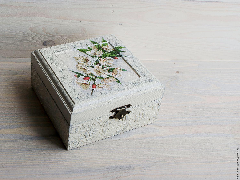 Jewelry box 'Apple blossoms', Box, Tyumen,  Фото №1