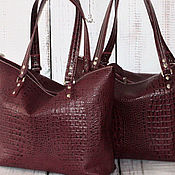 "Женская сумка - Yulada Bag ""caiman-bordo"" (L"