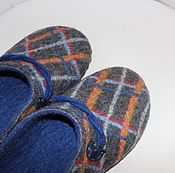 Обувь ручной работы handmade. Livemaster - original item Felted Slippers for men