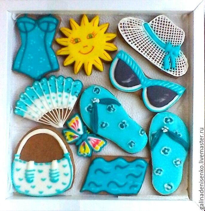Set of gingerbread Beach collection. a gift to a friend, Gingerbread Cookies Set, Rostov-on-Don,  Фото №1