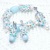 Украшения handmade. Livemaster - original item the aquamarine bracelet