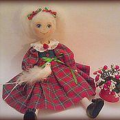 Куклы и игрушки ручной работы. Ярмарка Мастеров - ручная работа Лиза- текстильная кукла. Handmade.