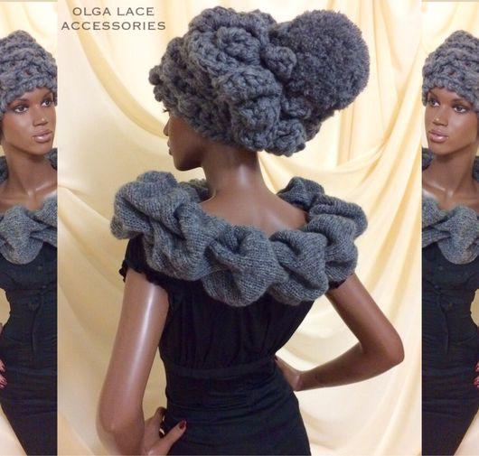 """Шапки ручной работы. Ярмарка Мастеров - ручная работа. Купить Вязаная шапка """"Luxury light"""" от Olga Lace. Handmade."""