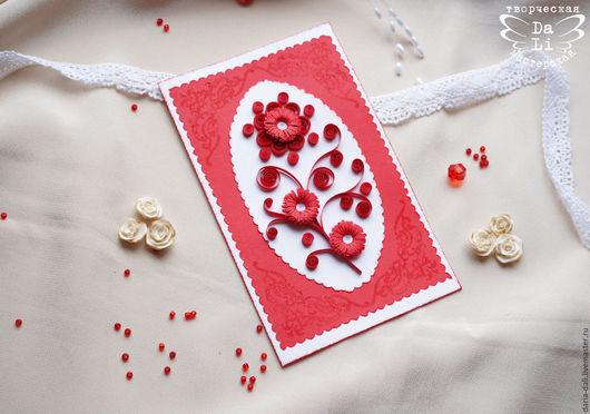 Открытка ручной работы `Аленький цветочек#1` от Творческой Мастерской `DaLi`