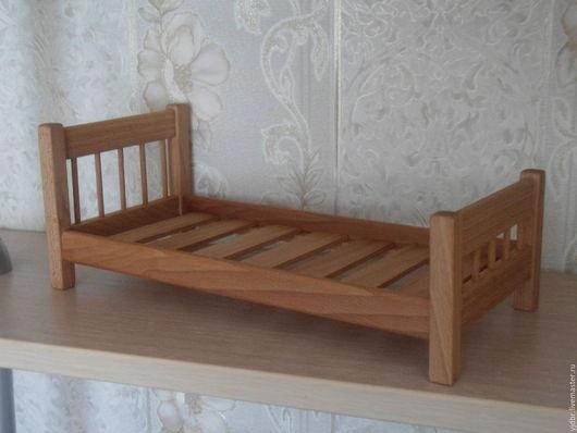 Кукольный дом ручной работы. Ярмарка Мастеров - ручная работа. Купить Кукольная кровать. Handmade. Кукольная мебель, кукольная кровать