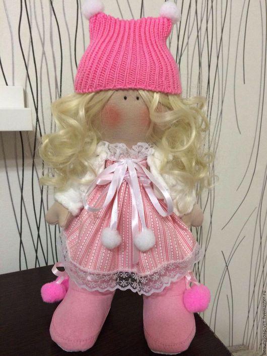 Куклы тыквоголовки ручной работы. Ярмарка Мастеров - ручная работа. Купить Кукла Таечка. Handmade. Розовый, большеногая кукла