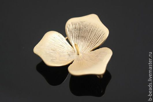 """Для украшений ручной работы. Ярмарка Мастеров - ручная работа. Купить Коннектор """" Цветок """" позолоченный под жемчужину. Handmade."""
