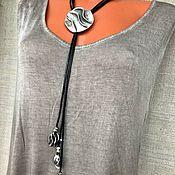 Украшения handmade. Livemaster - original item Necklace-tie Decoration on the neck in the style of boho metal and leather. Handmade.