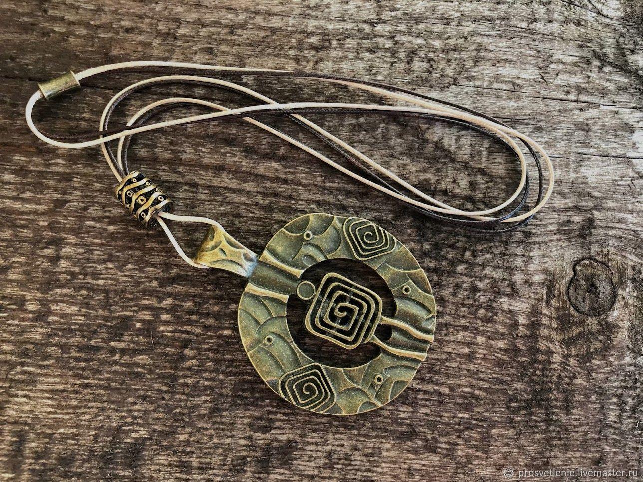 Large boho decoration. Stylish charm boho pendant. Massive boho decoration pendant. Stylish jewelry boho. Big jewelry out of metal to buy. Unusual large pendant. The decoration for every day