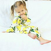 Работы для детей, handmade. Livemaster - original item Pajamas for girls set bow family