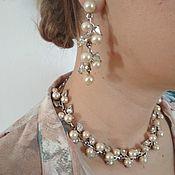 Винтаж handmade. Livemaster - original item Vintage clip-on earrings