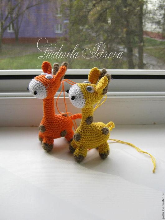 Игрушки животные, ручной работы. Ярмарка Мастеров - ручная работа. Купить Маленькие жирафики. Handmade. Разноцветный, зоопарк