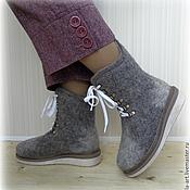 Обувь ручной работы. Ярмарка Мастеров - ручная работа Ботинки валяные женские Ульяна. Handmade.