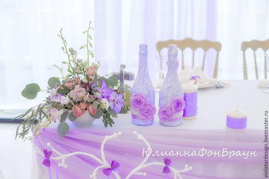 Свадебные цветы ручной работы. Ярмарка Мастеров - ручная работа. Купить оформление свадебного торжества в ШАТРЕ (Коломенское) СИРЕНЕВАЯ ГАММА. Handmade.