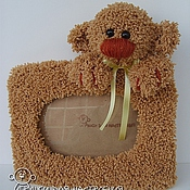 Сувениры и подарки handmade. Livemaster - original item Photo frame with bear. Handmade.