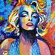 """Люди, ручной работы. Ярмарка Мастеров - ручная работа. Купить Картина """"Мэрилин Монро"""" масло 50х60см. Handmade. Картина, лак"""